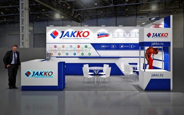 JAKKO-ПРОИЗВОДСТВО ПЛАСТИКОВЫХ ТРУБ И ФИНИНГОВ - изготовление выставочных стендов в Самаре и Новосибирске