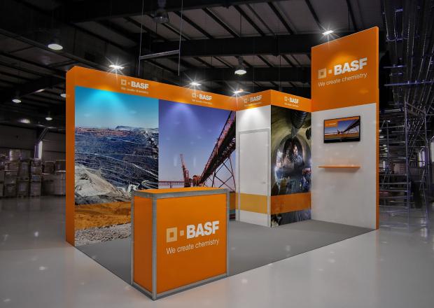 BASF - изготовление выставочных стендов в Самаре и Новосибирске