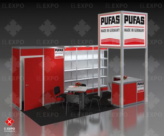 Pufas - изготовление выставочных стендов в Самаре и Новосибирске