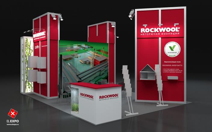Rockwool - изготовление выставочных стендов в Самаре и Новосибирске