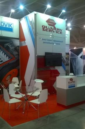 SANDVIK - изготовление выставочных стендов в Самаре и Новосибирске
