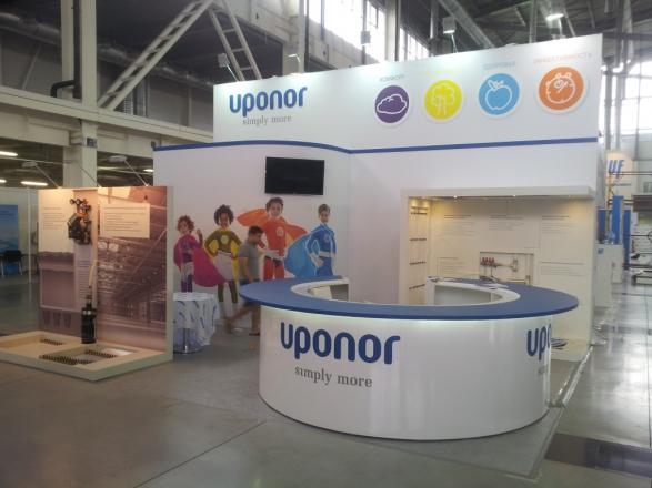 Uponor - изготовление выставочных стендов в Самаре и Новосибирске