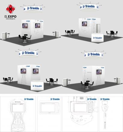 Trimble - изготовление выставочных стендов в Самаре и Новосибирске