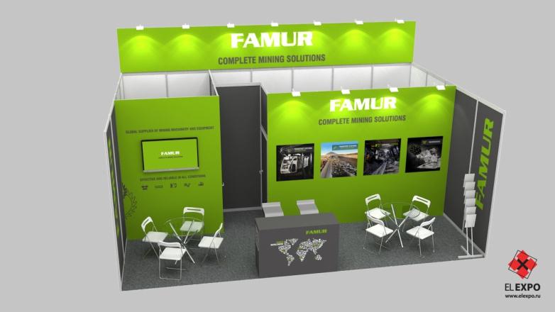 Famur Новокузнецк - изготовление выставочных стендов в Самаре и Новосибирске