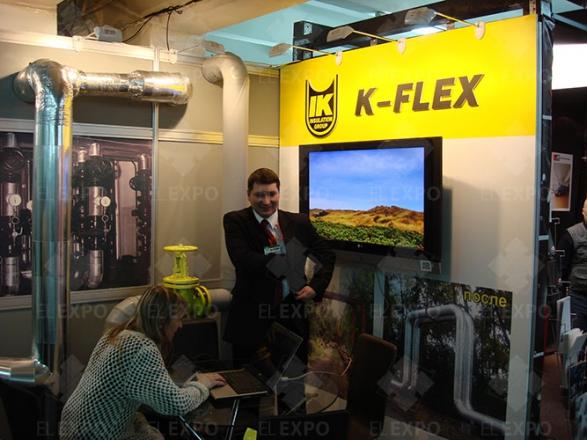 K-Flex - изготовление выставочных стендов в Самаре и Новосибирске